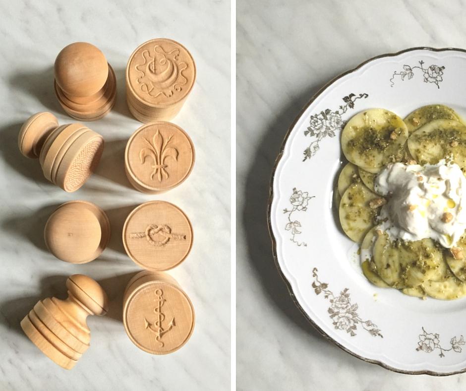 Wooden corzetti pasta stamps